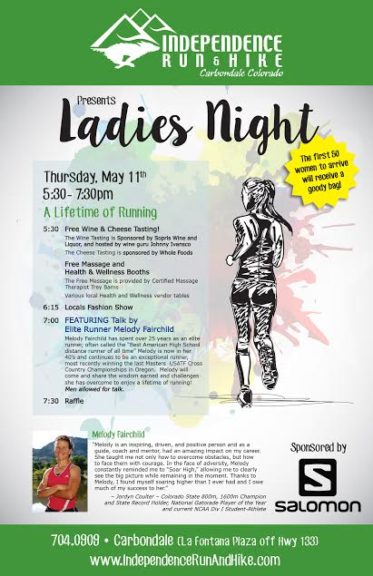 Ladies Night With Melody Fairchild – A Lifetime Of Running – 5/11