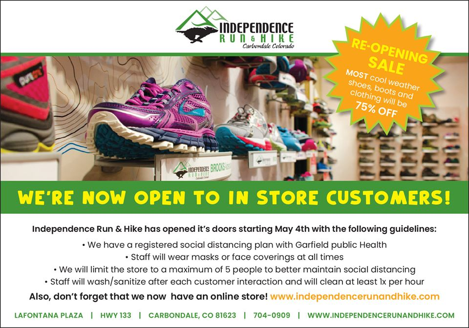 We Are Open For In Store Service